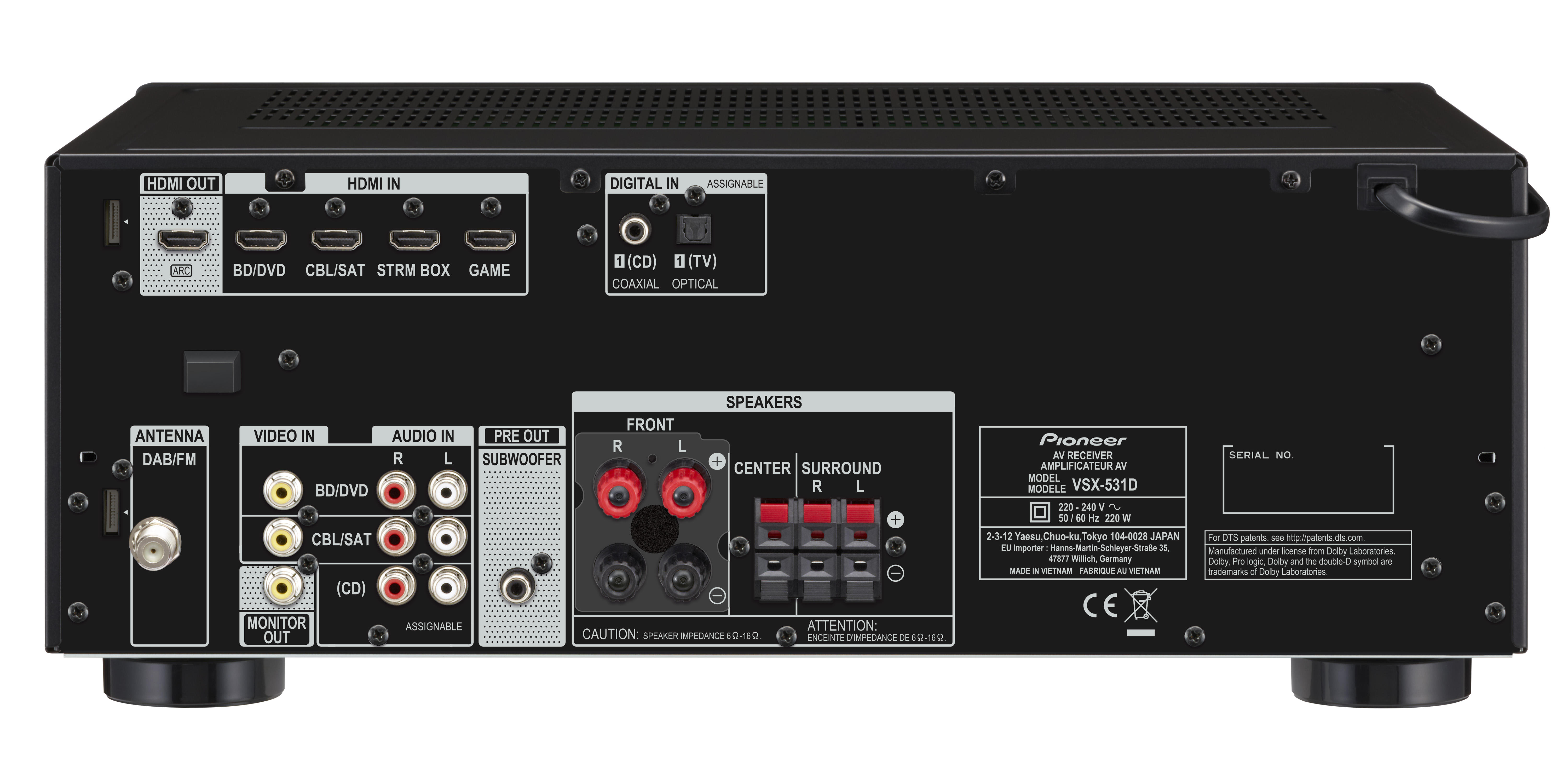 VSX-531D   AV Receivers   Products