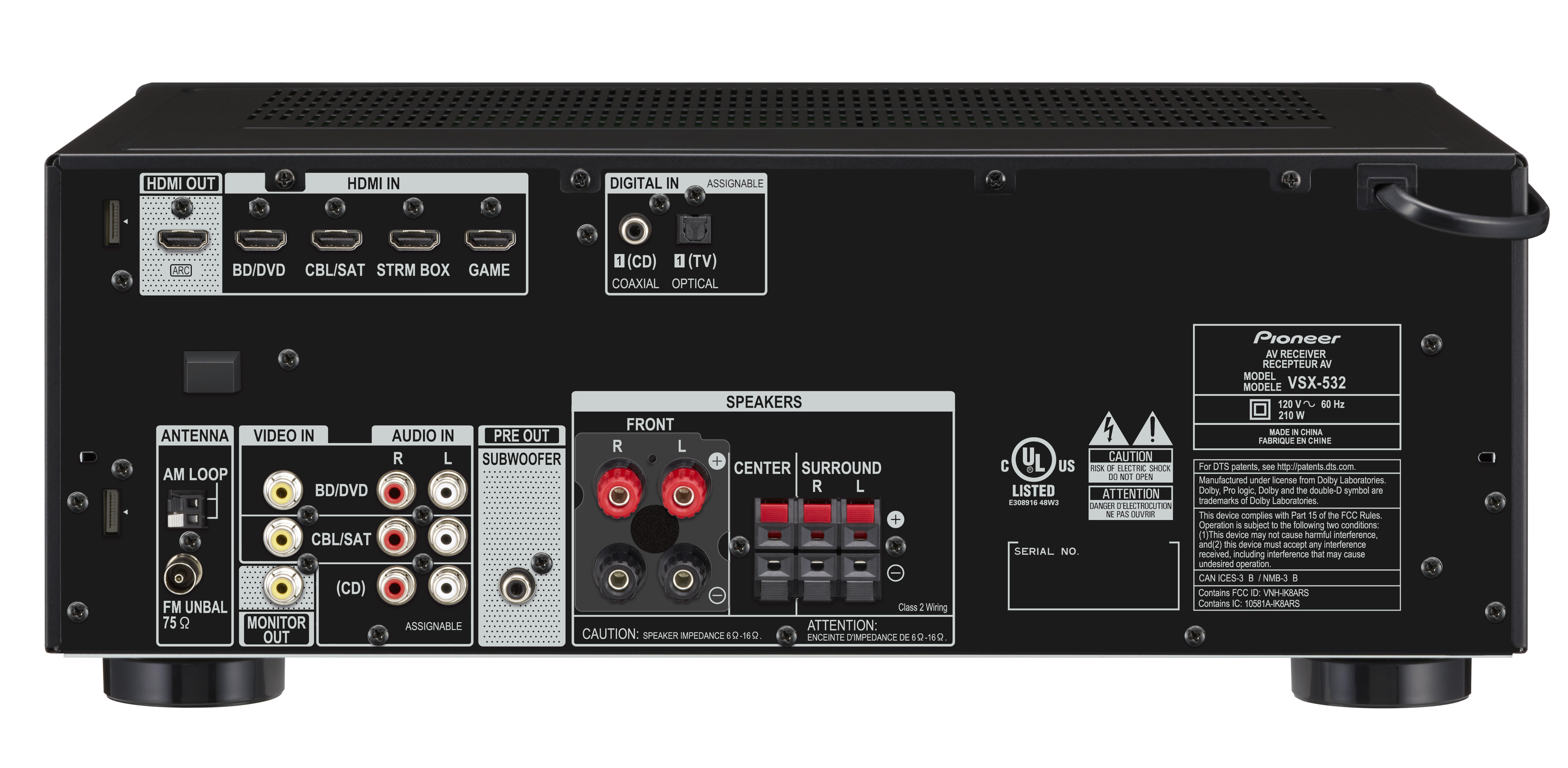 Vsx 532 Av Receivers Products Pioneer Home Audio Visual Power Amplifier Compatible With Tv