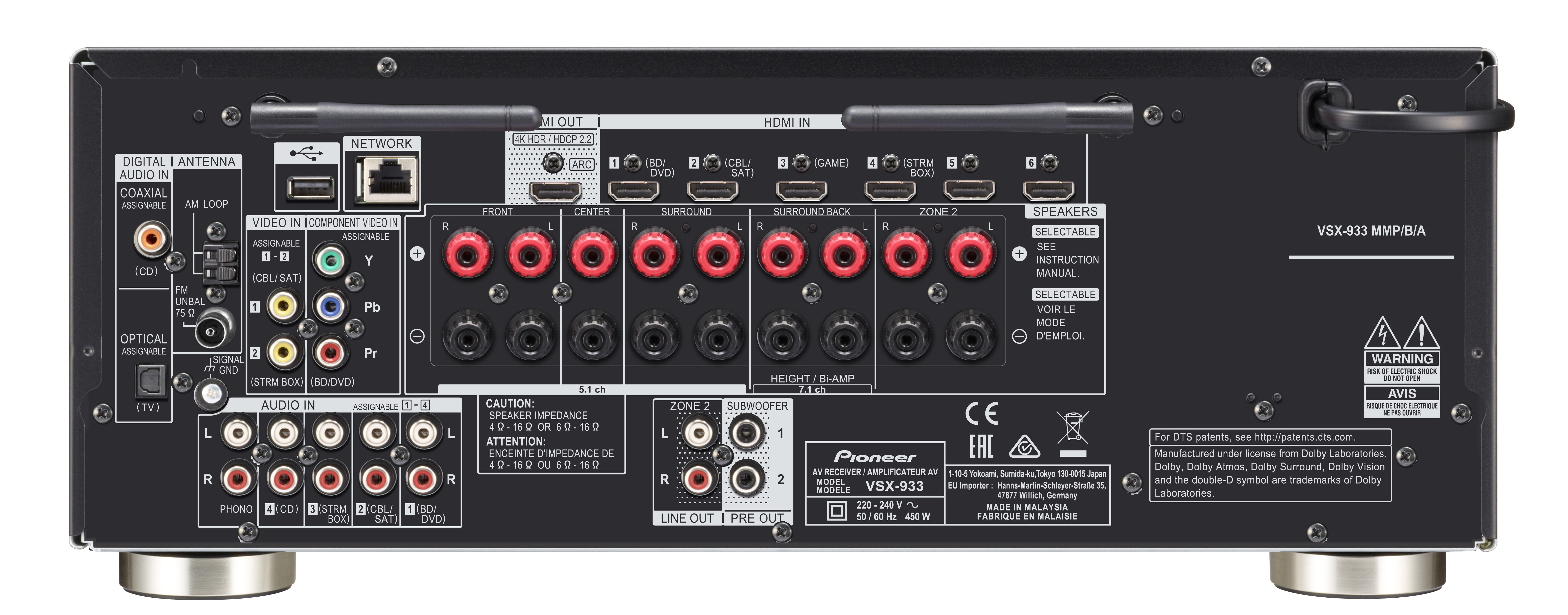Pioneer Av Receiver >> VSX-933 | AV Receivers | Products | Pioneer Home Audio Visual